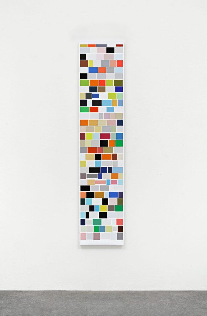 Mehr_Bilder (M.M. I), 2018 Digitaler Pigmentdruck auf Leinwand 140 x 30 x 4 cm