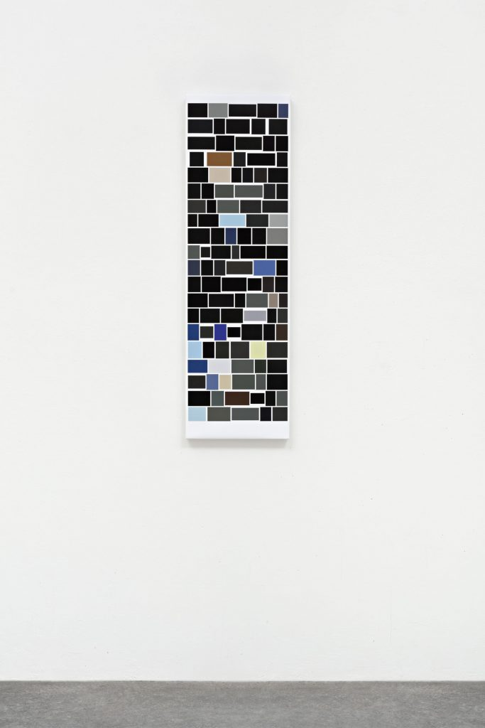 Mehr_Bilder (P.S. I), 2017 Digitaler Pigmentdruck auf Leinwand 100 x 30 x 4 cm