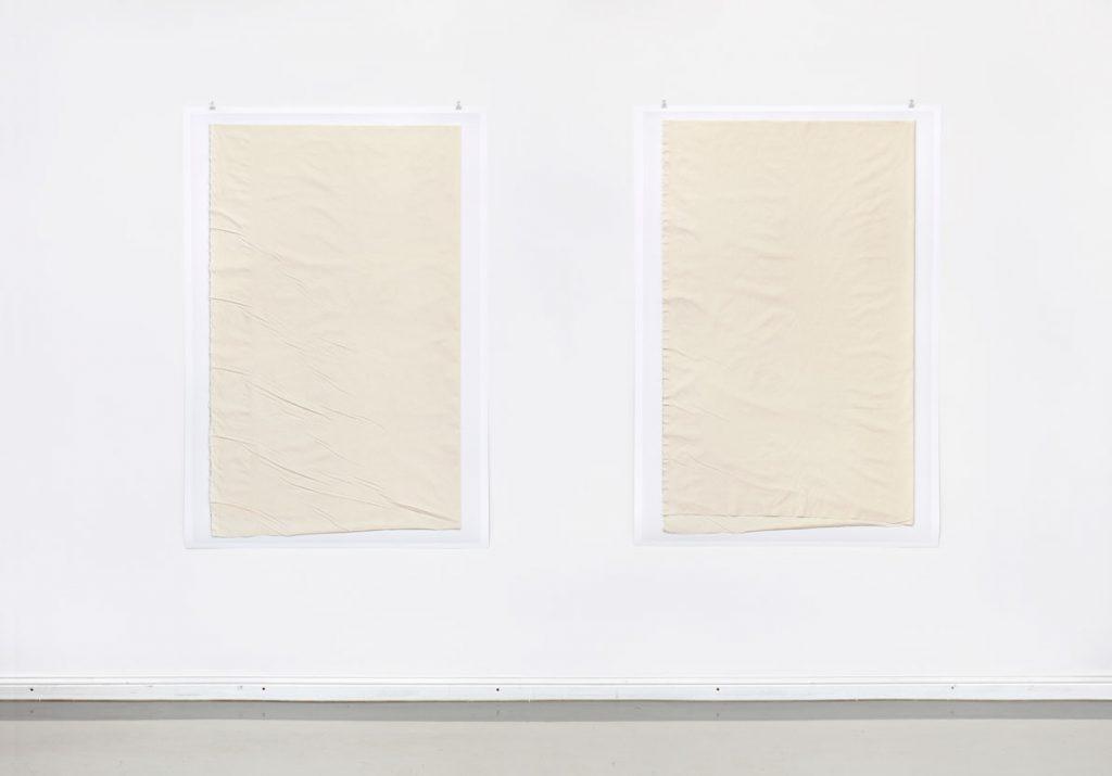 Leinwand 03/1 und Leinwand 03/2, 2014 Digitaler Pigmentdruck Je 163 x 111,8 cm Fotografie: Hans-Georg Gaul